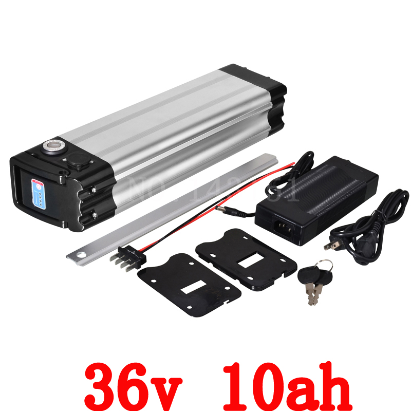 ebike 36v 500w battery electric bike battery 36V 10Ah,for bafang/8fun 500w motor with Aluminium Case BMS Chargrer Free Shipping купить