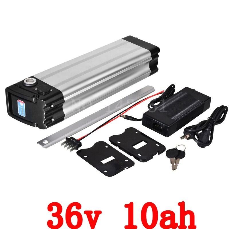 ebike 36v 500w battery electric bike battery 36V 10Ah,for bafang/8fun 500w motor with Aluminium Case BMS Chargrer Free Shipping