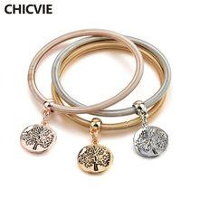Ажурные браслеты chicvie 3 шт/компл на заказ с деревом жизни