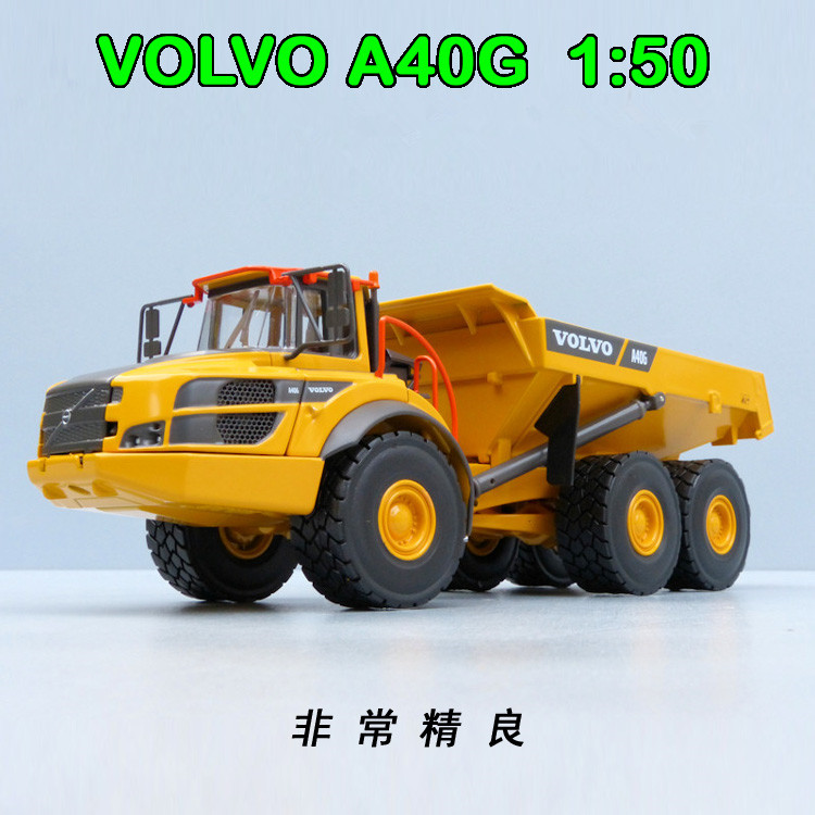 Collectible Diecast Toy Model MOTORART 1:50 VOLVO A40G ARTICULATED Hauler Mining Dump Truck Engineering Machinery Decoration