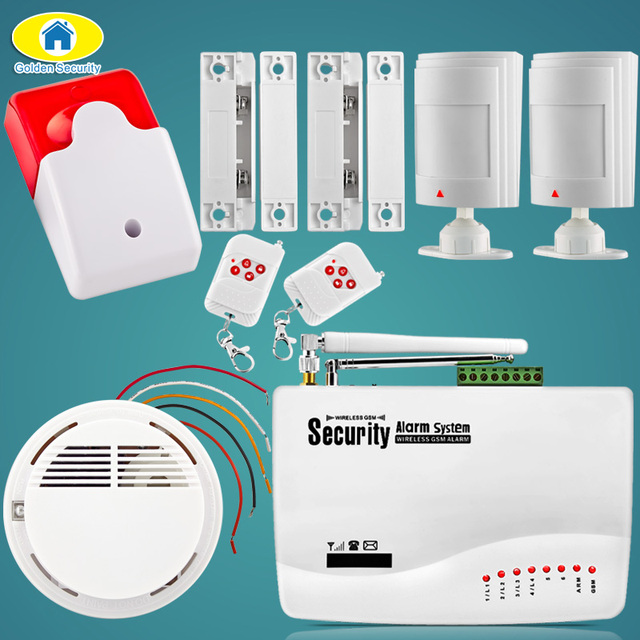 Golden Security GSM10A GSM Home Alarm System Wireless SIM Home/Office  Security Burglar System Wired