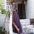 New Hot Bohemian Sexy Split Long Skirt Elegant Large Ruffles Hem Floor-length Maxi Skirt Summer Beach Vocation Skirts