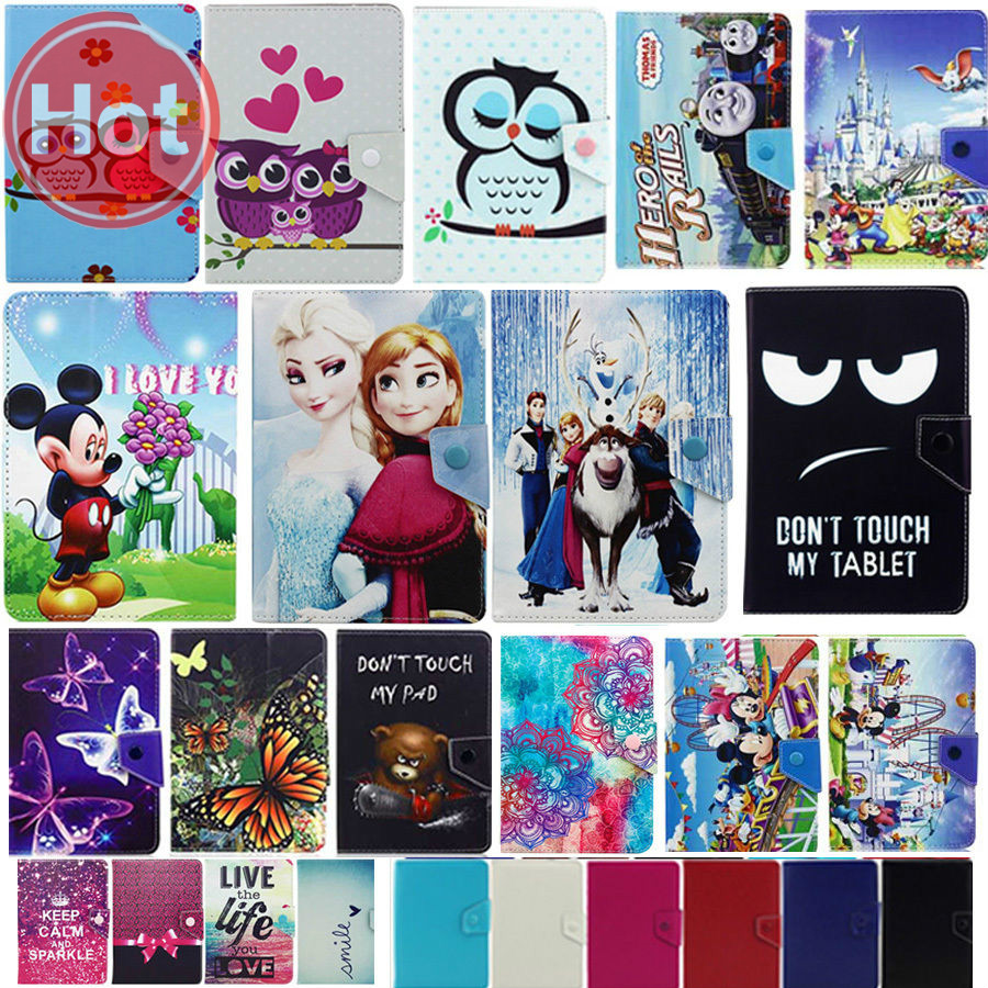 Cartoon Congelados Princess Elsa Anna Olaf Leather Case For 7