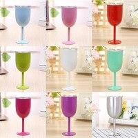 European 10 Oz Stainless Steel Red Wine Cup Anti Broken Wine Glasses Stemware Creative Winecup Durable