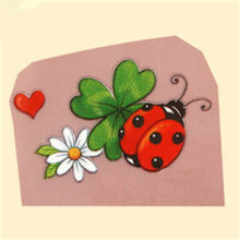 Fashion Grandma Clothes Diy Biker Patch Heat transfer printing Ladybug iron on patches for clothing Jeans T shirt PVC Stickers(China)