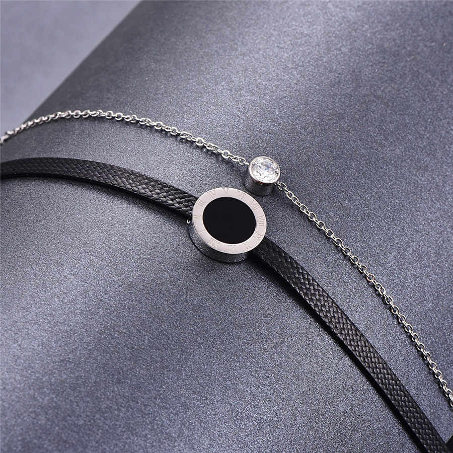 Martick Harajuku Style Torques Pendant Link Chain Necklace With Double Link Cubic Fashion Jewelry For Women P32