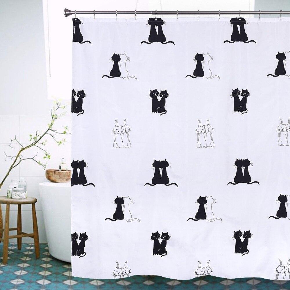 online get cheap kiss shower curtain aliexpress com alibaba group new creative european style kiss kitty cat curtains deerlet waterproof bath curtain polyester bathroom shower curtain
