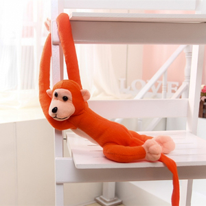 Image 4 - 1 pcs 70CM Hanging Long Arm Monkey from arm to tail Plush Baby Toys colorful Doll Kids Gift