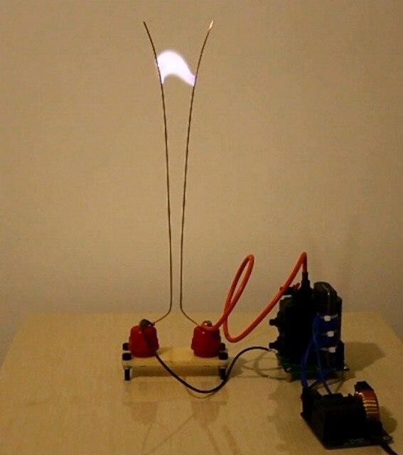 Haute tension Arc Jacob échelle expérience bricolage expérience Kit Tesla bobine physique expérience geek jouet ZVS 24V 200W alimentation