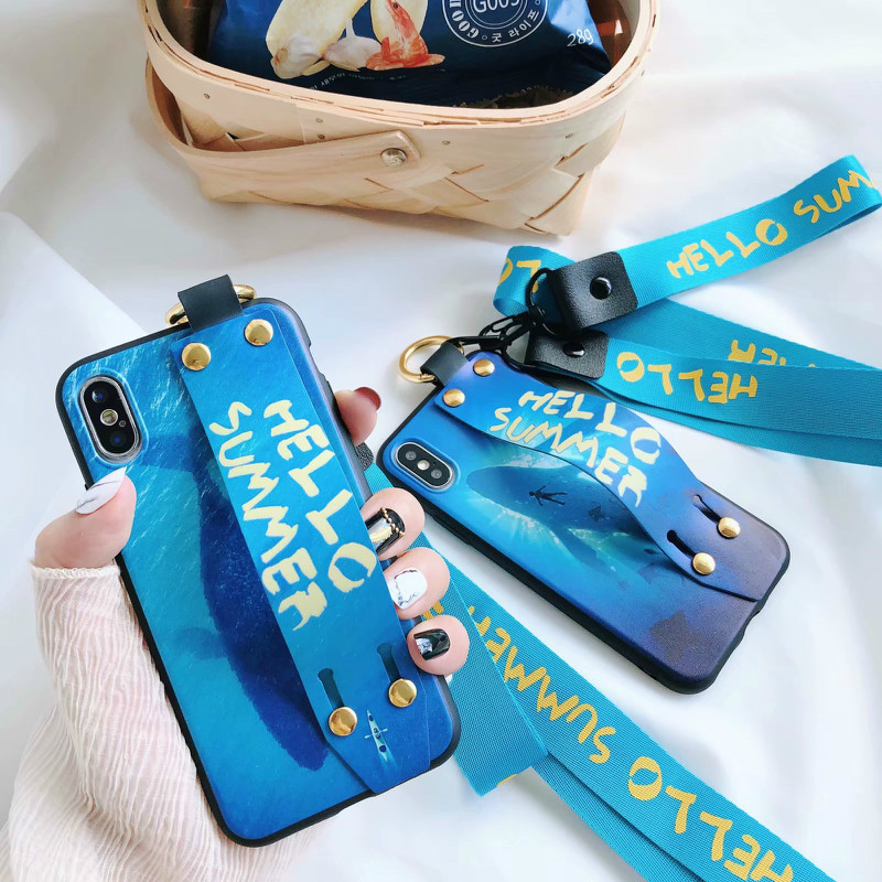 Wrist Strap Lanyard Soft Phone Case Back