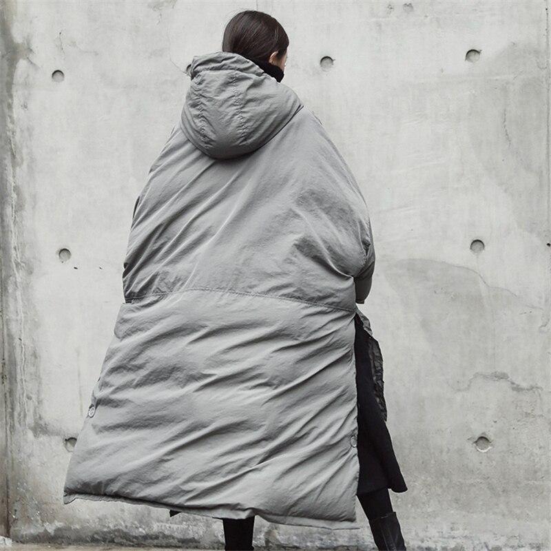 270 De Haute Oversize Chaud Coton Femmes Mode Hiver Gray Grande Épaississement Long Nouveaux Taille 2018 Veste Manteau Capuchon Qualité À Parkas wwqpH
