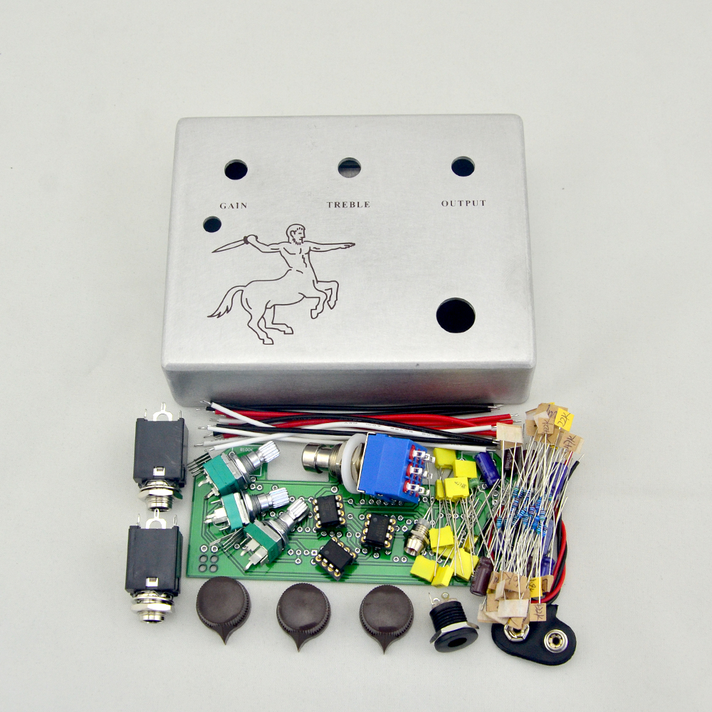DIY Klon Centaur Overdrive pedal All Kits With 1590BB Aluminum Enclosure Box