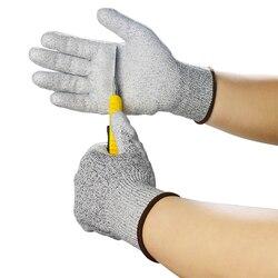 FGHGF guantes Anti-corte a prueba de seguridad resistente a las cuchillas de acero inoxidable de malla metálica de seguridad resistente al corte de carnicero guantes