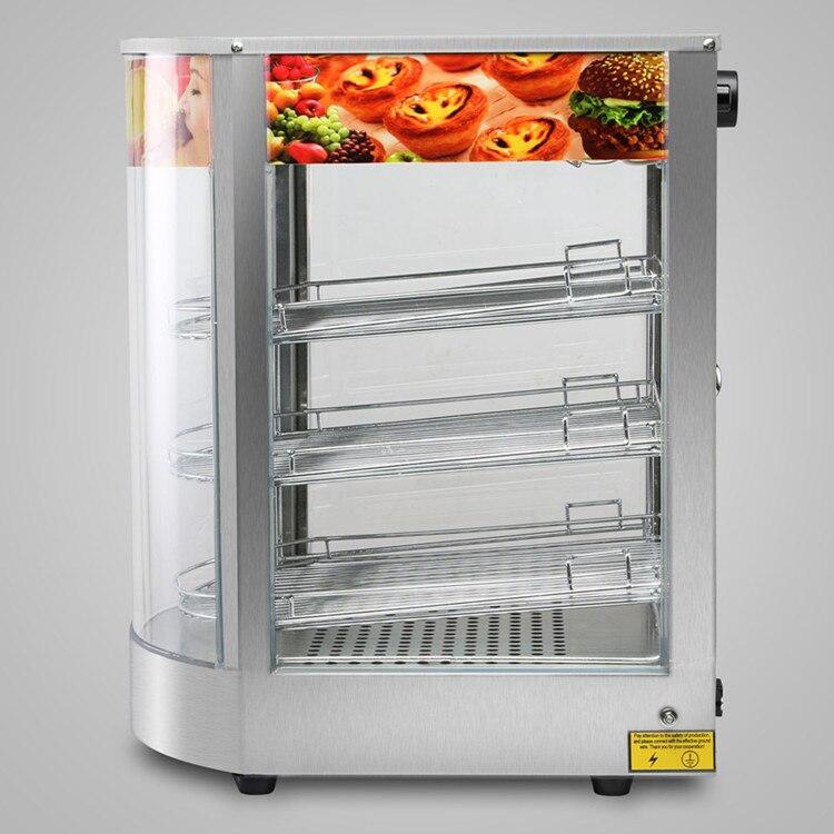 20x17x14 pizza exibir mais quente nova construção de aço inoxidável resistente comercial contador superior alimentos - 4