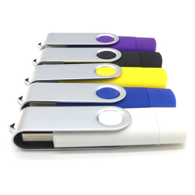 Hotsale Brand USB Flash Drive OTG 4GB 8GB 16GB 32GB 64GB Smart Phone Mobile Pen Drive USB Stick Pendrive External Storage