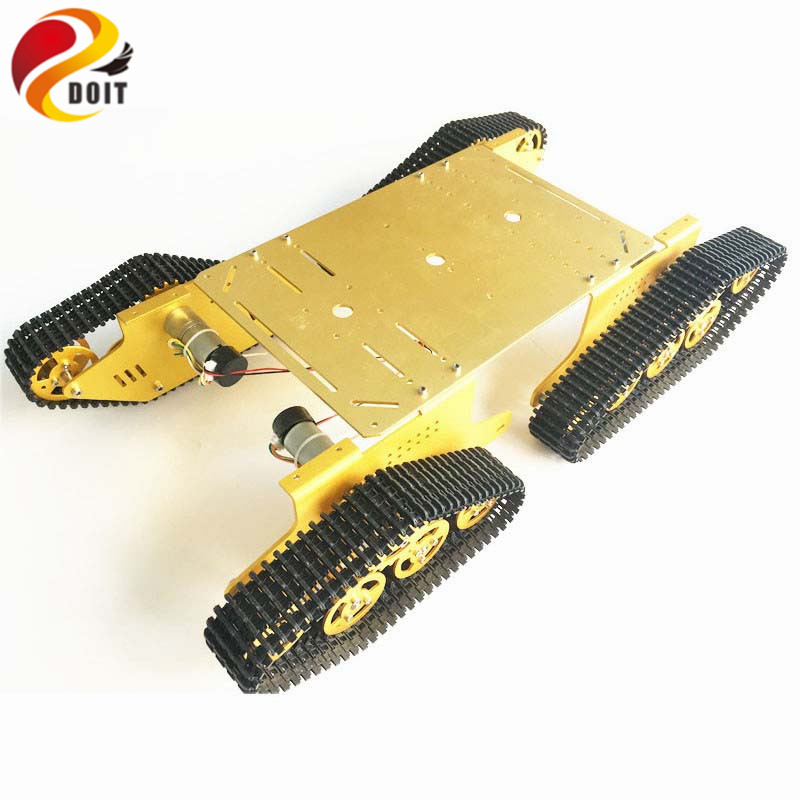 DOIT T900 4WD Metal Wall-e Tank Chassis Caterpillar Chassis Tracked Vehicle Mobile Platform Crawler Walee DIY RC Toy kit