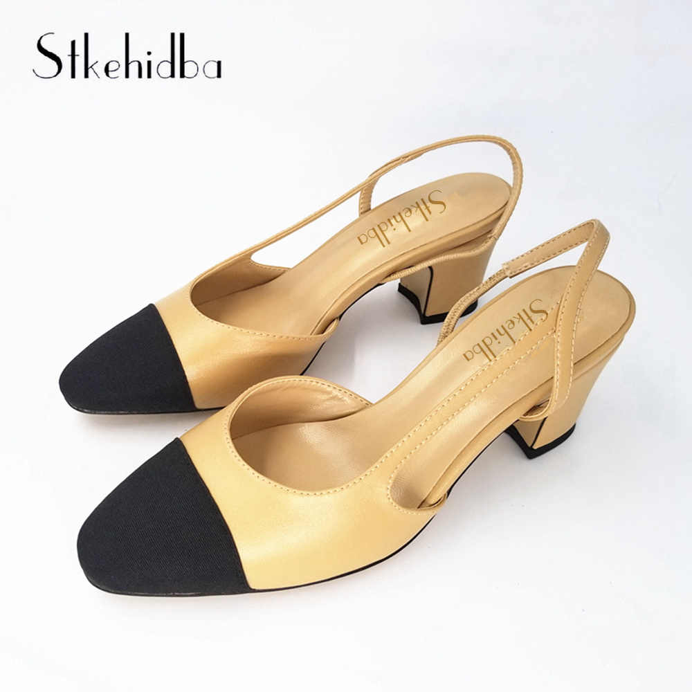 0c6eaf68cee Detail Feedback Questions about Stkehidba Women s Shoes Hot Sale Genuine  Leather Women Pumps Summer Shoes kitten Heels Women s Sandals Plus Size 34  43 Shoes ...
