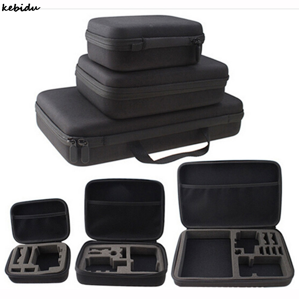 Forceful Kebidu Travel Storage Case Collection Box Camera Bag Protective For Gopro Hero 3/4 Sj 4000 Xiaomiyi Action Camera Sport Cam Without Return Consumer Electronics