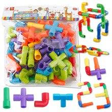 Пластиковые трубы мозаика строительные блоки игрушки детский сад головоломки игрушки DIY Красочные когнитивные цифры Anaimals мраморные пробежки