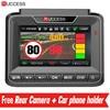 Ruccess 3 In 1 DVR Dash Camera Full HD 1080p Car Camera MSTAR Dual Lens Video