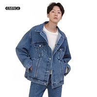 Men New Retro Fashion Jeans Jacket Spring Autumn Male Loose Wash Denim Coat Outerwear