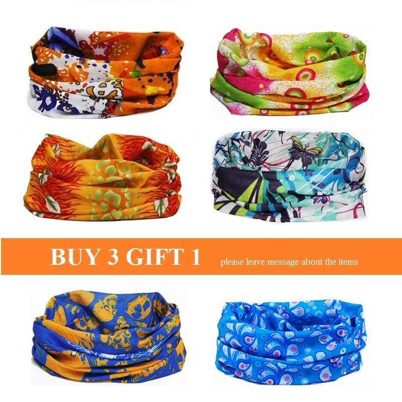 Magic Outdoor Sports Quick Dry Riding Cycling Ski Hiking Neck Bandanas Bicycle Face Mask Scarf Bike Head Band for Men and Women