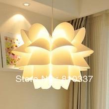 Новый современный 35 см белый пп лотос форма лампы свет кулон освещение спальни люстра