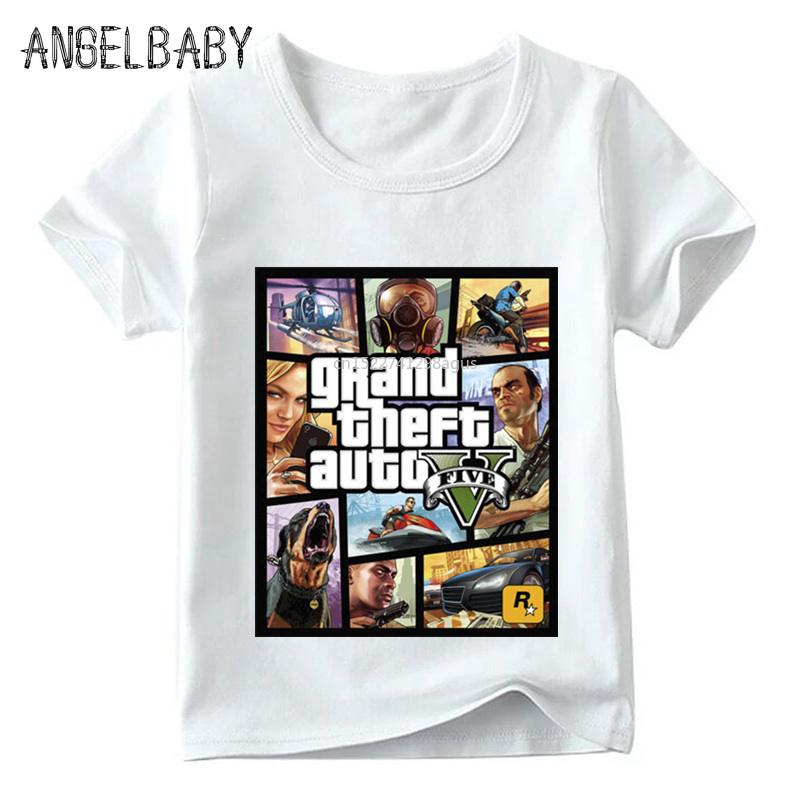 Children GTA Street Fight Long With GTA 5 T Shirt Baby Boys/Girls Fashion Summer Tops Kids Casual T-shirt,ooo2180