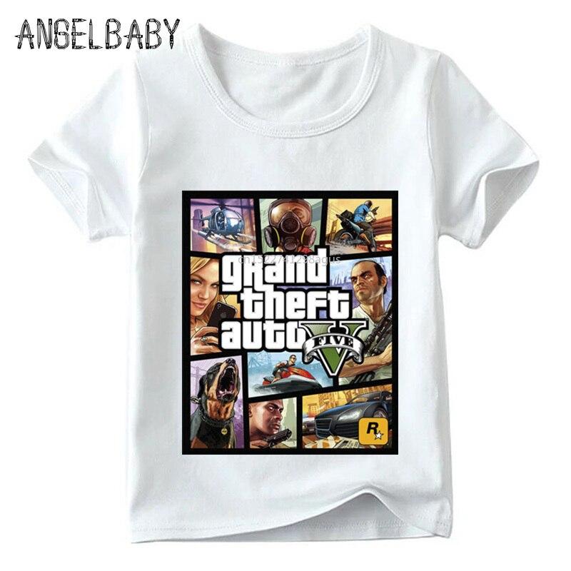 Children GTA Street Fight Long With GTA 5 T Shirt Baby Boys/Girls Fashion Summer Tops Kids Casual T-shirt,ooo2180