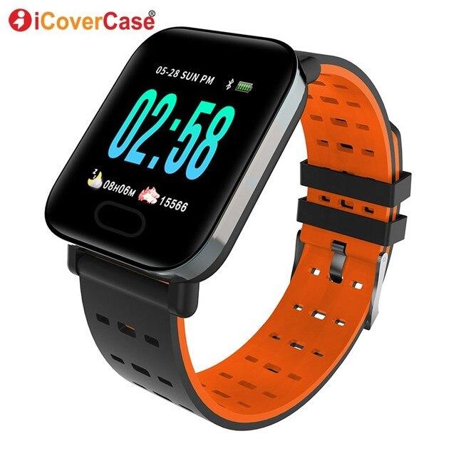 nueva llegada 17989 931bf Pulsera inteligente para Samsung Galaxy S10 5G S10e S9 S8 más S7 Nota 10 9  8 5 presión arterial monitor reloj pulsera deportiva