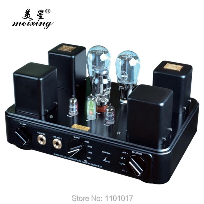 Meixing MingDa MC300-EAR XLR Tube Amplifier HIFI EXQUIS Magic Eye Lamp Headphone Amp & USB Decoder