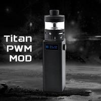 Original Steam Crave Titan PWM VV Box MOD Max 300W Huge Power Fit with Aromamizer Titan RDTA No 18650 Battery E-cigarette Mod 5