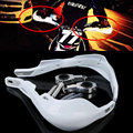White Handlebar Hand Guards Handguard Handle Protector Protection 22mm 28mm Alloy Insert CR/CRF 250 Pit Dirt Bike