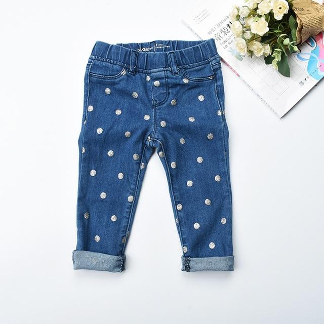 aac706884654cf Kinder jeans 2018 Sping kinder denim blue jeans für mädchen baumwolle Baby jeans  pailletten dot Casual