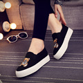 Free shipping spring black canvas casual shoes set foot shoes Teddy Bear