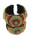 New fashion Bohemian ethnic ampla pulseiras & bangles mulheres jóias grânulos coloridos feitos à mão corda trança pulseira de punho ajustável