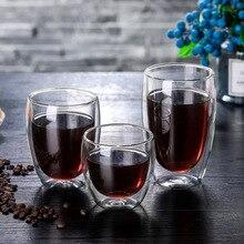 New Heat-resistant Double Wall Glass Cup Beer Espresso Coffee Set Handmade Mug Tea glass Whiskey Cups Drinkware