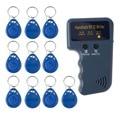 VENDA QUENTE! Handheld 125 KHz RFID Copiadora/Escritor/Leitor/Duplicador Com 10 pcs EM4305 Regravável ID Etiquetas Keyfobs T5577 Cartão 5200