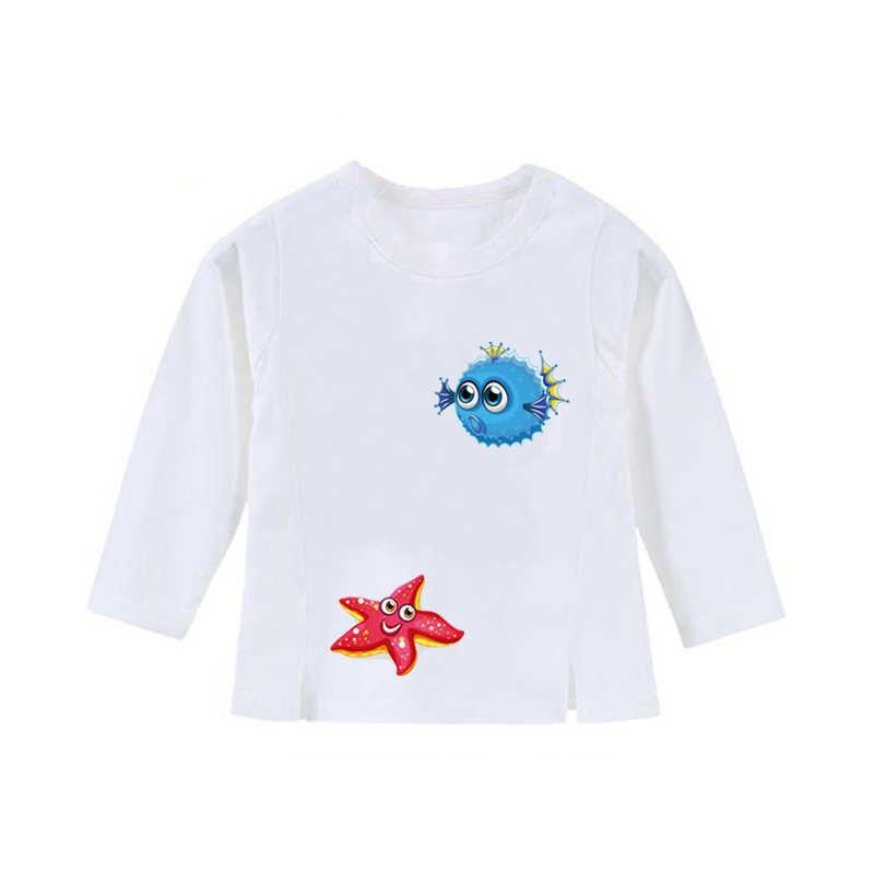 22x22 cm Ozean Fisch Patch Eisen Auf Tuch T-shirt Kleider Patches A-niveau Waschbar Wärme Übertragung Aufkleber DIY Druck Dekoration