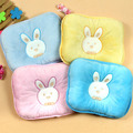 Hot sale baby bedding cute rabbit baby pillow shape soft velvet newborn baby pillow anti-migraine baby shaping pillow