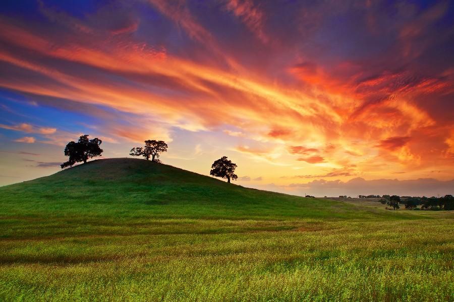 Cielo Con Nubes Y El Cielo Del Sol Del Atardecer Fotos, Retratos ...