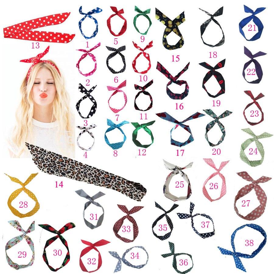Women Girls Summer Vintage Hair Bands Print Headbands Retro Cross Turban Bandage  HairBands Hair Accessories Headwrap