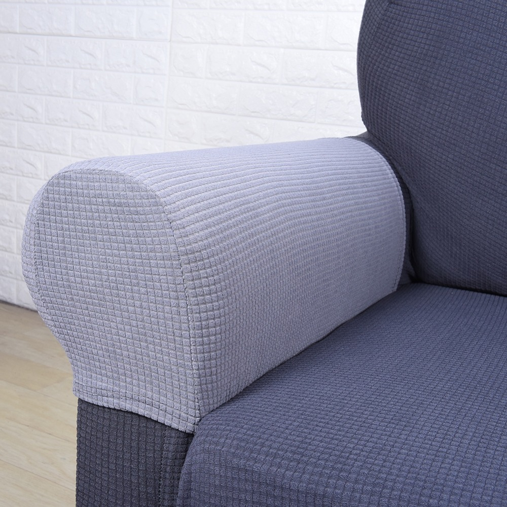 Waterproof Stretch Fabric Sofa Armchair Armrest Covers