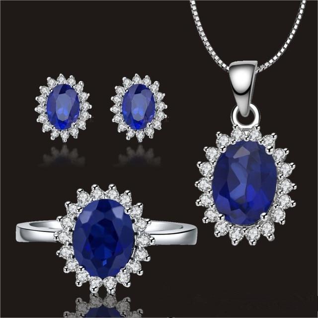 sapphire wedding jewelry sets