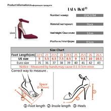 LALA IKAI Woman Wedding Shoes Brand Strap Heels Classic Heeled Sandals 12CM Ladies Red Platform Pumps 014C1734 -35