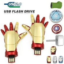 usb Flash Drive cartoon 64GB 32GB Captain America Iron Man The Hulk Thor 16GB 8GB  U Disk Pen drive USB 2.0 memory stick