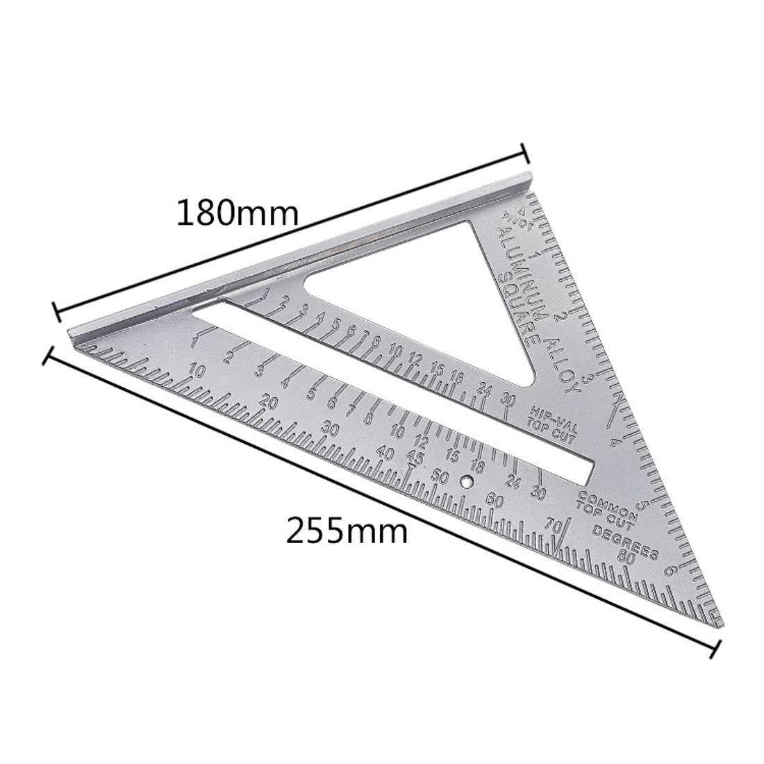 New Speed Square Protractor Aluminum Alloy Miter Framing Tri-square Line Scriber Saw Guide Measurement Inch Carpenter Ruler