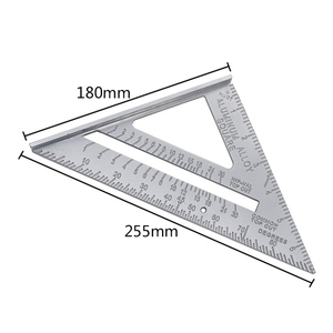 New Speed Square Protractor Aluminum Alloy Miter Framing Tri-square Line Scriber Saw Guide Measurement Inch Carpenter Ruler