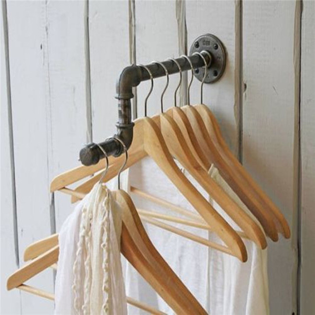 Wall Mounted Clothes Rack With Shelf Home Ideas