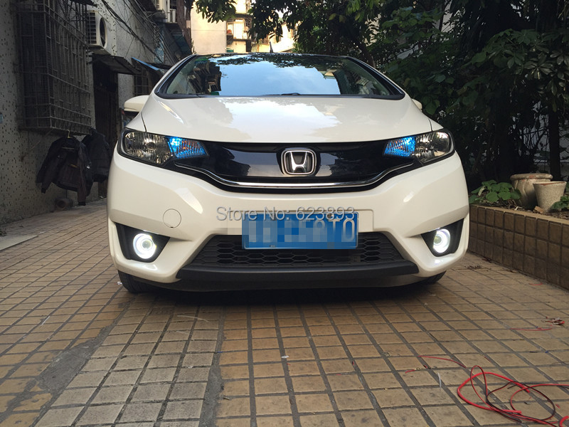 Car Styling For Honda Fit Jazz 2017 2016 Led Daytime Running Lights Drl Projector Lens Fog Angel Eyes Kit 2pcs 1set In Light Embly From